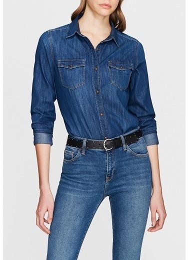 Mavi Jean Gömlek | Isabel - Dar Kesim İndigo